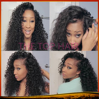Auburn full lace wigs for black women - Best Quality Kinky Curly Glueless Bleached Knots Lace Front Wigs Full Lace Wigs Brazilian Virgin Human Hair With Baby Hair For Black Women
