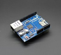 arduino ethernet shield sd card - hot sell Freeshipping Ethernet W5100 network expansion board SD card expansion for arduino UNO Shield Ethernet Shield free shipp