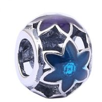 ales brands - Brand Enamal Flower Beads Fit Pandora Charms ale Fit Pandora Charms Neclace Bracelet DIY Jewelry Mayking PD0044