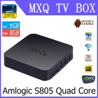 Wholesale MXQ TV BOX Amlogic S805 Quad Core Android K Video TV Channals KODI14 Gotham Media Player Google Play Store Rooted p