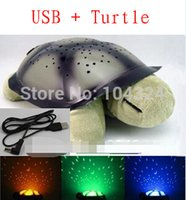 Wholesale 4 Colors Musical Turtle Night Light Stars Constellation Lamp Without Box pc