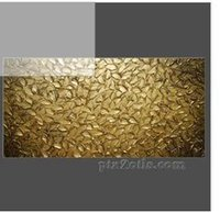 abstract bronze sculptures - Original Art Large Abstract Textured Bronze Gold Modern Palette Knife Painting Leaves Sculpture on Oil Painting