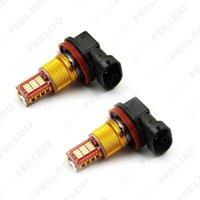Wholesale 10pcs White Car H11 Chip SMD LED Brake Tail Stop Fog LED Light Headlight V