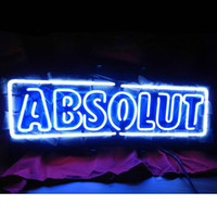 absolute green - 17 quot x14 quot Absolute Vodka design Real Glass Neon Light Signs Bar Pub Restaurant Billiards Shops Display Signboards