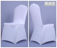 Wholesale Universal White Polyester Spandex Wedding Chair Covers for Weddings Banquet Folding Hotel Decoration Decor Hot