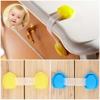 Wholesale 1pcs Toddler Baby Safety Lock Kids Drawer Cupboard Fridge Cabinet Door Lock Plastic Cabinet Locks
