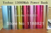 Wholesale 20pcs Yoobao mah External Battery charger Power Bank for iPhone iPad Samsung HTC with Micro usb cable retail box