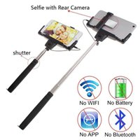 Cheap Wired D09 Mirror Wired Selfie Stick Best Stainless Steel DHL free shipping if not remote area D09 Mirror Selfie Stick