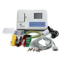 Wholesale USA Free Ship inch Digital channel Electrocardiograph Color LCD Screen High resolution of Patient Cases Software