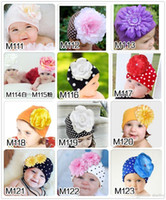 Cheap Hot Cute Baby Beanie Hats For Girls Beautiful Charming Flower Soft Cotton Baby Hats Girls Spring Autumn Hats Children's Cap M21 A5
