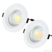 Wholesale 2015 NEW Arrive W V COB LED Energy Saving Lamp Ceiling Light Recessed Downlight free sheeping LED_309