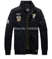 air force eagle - Fall Black Green Khaki Military Style Jackets Eagle Embroidery Pilot Jacket Usa Army Air Force Coat