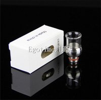 ball drip - Ball Styls Drip Tips Stainless Steel with Glass Wide Bore Drip Tip EGO Atomizer Mouthpieces for E Cig EVOD Mechanical Mods Atty Tanks
