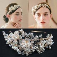South American imitation jewelry - Vintage Gold Handmade Wedding Hair Jewelry Hair Accessories Bohemian Headpieces Imitation Pearl Rhinestone Crystal