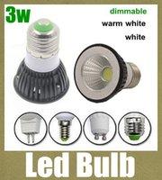 Wholesale COB led lights dimmable led lighting bulbs led bulb housing globe dome led work lamp light led spotlight e27 e14 gu10 mr16 gu5 base DB004