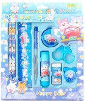 Wholesale Small gift birthday gift stationery set students prizes Pencil rubber covered times