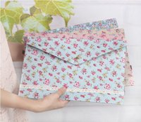 Wholesale New Fashion Sweet Floral Print Document Bags Cotton Envelope Design Make Up Bag VQB70