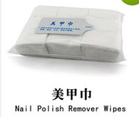 Wholesale Nail Polish Remover Wipes Clean Wipes Cotton Nail Art Tips Manicure Nail Lint Pads Paper Hot Selling