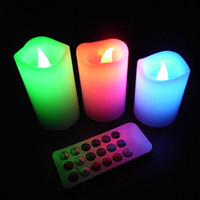 Wholesale LED Candle Lights Wax Battery Electronic or hour Remote Control Color changing Light LED Candle Lamps