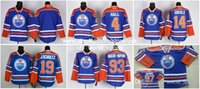 blank hockey jerseys - Cheap Edmonton Blank J Eberle Taylor Hall Ryan Nugent Hopkins J Schultz Connor Mcdavid Blue Oilers Nhl Ice Hockey Jersey