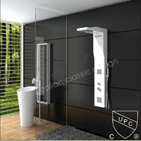 Wholesale New Modern CUPC Certificate Solid Surface Shower Panel Wall Mounted Shower Faucet Column Corian Panel RS0036