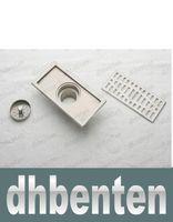 Wholesale LAI1572 cm stainless steel nickel bathroom kitchen shower square floor waste grate sanitary floor drain dl04