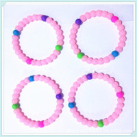 Wholesale High Quality Silicone Bead Bracelets Wristbands Not Lokai Bracelet Pink Blue Clear Color Mix The Most Cheap DHL