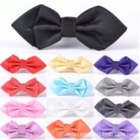 Wholesale flower children tie bow neck tie children dress personality tide male Korean groom bown