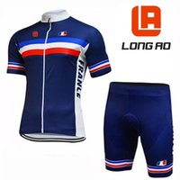 ao gold - New Long Ao Short Sleeve Cycling Tops Blue National Team France Bicycle Jersey Bib Shorts Bike Clothing French team clothes