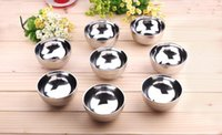Wholesale Hot High Quality Stainless Steel Stainless steel bowl double layer anti hot bowls tableware soup bowl Non slip texture Talheres