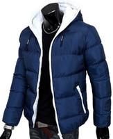 Wholesale Fall Baru pria jaket musim dingin Musim dingin pria berkerudung mantel jaket Mantel tebal Pria kasual jaket katun tipis