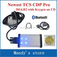 Cheap 2014.R2 with keygen! DHL freeship! 3 IN 1 black TCS cdp pro plus with bluetooth Compact Diagnostic Partner Pro ( +LED on obd2 )