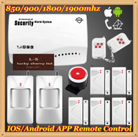 Cheap Andoird IOS APP Home protection 4Band GSM SMS Wireless Auto Dialer Burglar Voice Remote Control Alarm Motion Secure System DIY