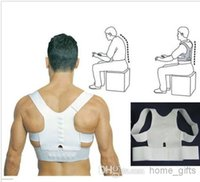 Cheap 50pcs lot New Power Magnetic Therapy Back Shoulder Support Brace Belt Posture Corrector