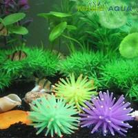 fish decorations - 3 pieces Silicone Aquarium Fish Tank Decor Artificial Coral Plant DIY Underwater Ornament Decoration