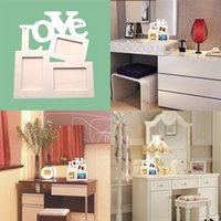 Cheap Hollow Tri-ply Wood Blank Love DIY Painting Picture Photo Frame Home Decor NVIE order<$18no track