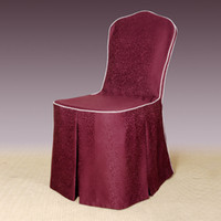 Wholesale Hotel elastic chair cover jacquard chair cover elegant hotel chair cover hotel supplies
