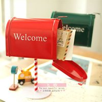 metal mailbox - Clearance Sale Vintage metal mailbox simulation clockwork music box music box handle creative and practical Slightly