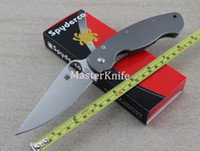 Wholesale 2014 New High Quality OEM Spyderco Military C36 Titanium Alloy handle CPM S30V For Tactical Survival Folding Knife Outdoor Knife