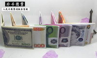 paper money - 2015 new Various countries Paper money wallet fashion men dollar purse wallet card holders Children Kids Gift Presents dhl free s