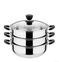 australia big - to AUSTRALIA big siz stainless steel steamer pot cm diameter layer cooking pot can be induction cooker