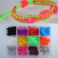 Wholesale 2014 New Scoubidou Bracelet String Kit Multi Plastic DIY Scoobies Strings Craft kid Intelligence Learning Toy