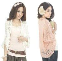 Wholesale summer cutout chiffon lace crochet batwing sleeve waistcoat cardigan loose sweater female thin cardigan for women