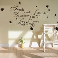 best black wallpapers - The Best Quality Twinkle Twinkle Little Star Removable Wall Decals Waterpoof Wall Sticker Vinyl Sticher