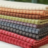 Wholesale 50 CM colors in riotous profusion Small grid yarn dyed fabric Cotton and linen DIY Patchwork Fabric Vintage Craft Workshop