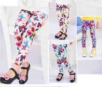 Wholesale Butterfly Art Design Slim Graffiti Stretchy Pants Tights Leggings Trousers