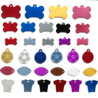 aluminium pet tags - Pet Id Tag Aluminium Dog Cat Tags Various Shapes Sizes drop shipping