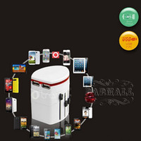 Wholesale Socket Dual USB Travel Adapter Multi Countries in Global General Conversion Socket Converter Universal Plug for Cellphone Camera