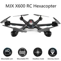 Wholesale Professional drones MJX X600 drone without with camera video drone quadcopter flying Hexacopter D Roll Stumbling UFO Helicopter