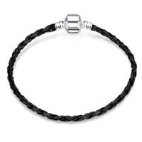 925 chaîne en cuir Bracelets Bangle Accessoires Charm 20cm Fit Magnet Pandor boucle bracelet free shopping